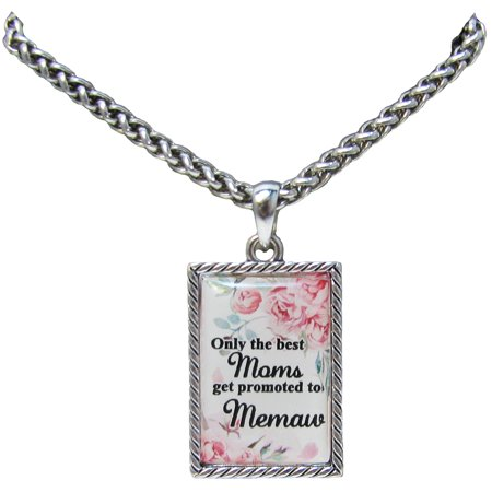Only the Best Moms Get Promoted to Memaw Silver Chain Necklace Jewelry Gift