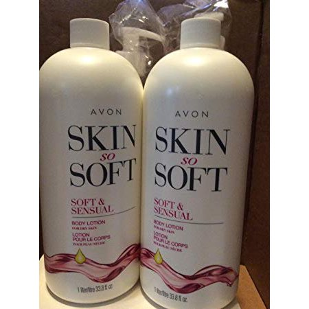 Avon skin so soft Soft & Sensual Body lotion for dry skin 33.8 fl.oz. lot 2 (Skin So Soft For Dogs Dry Skin)