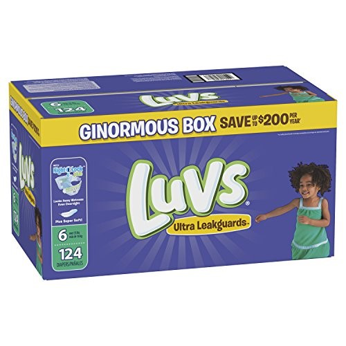 Luvs Ultra Leakguards Diapers, Size 6, 124 Count