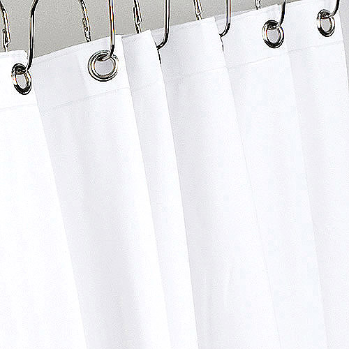 Vinyl Shower Curtain Liner, White