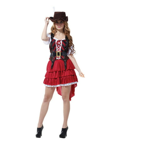 Women's Carribean Pirate Costume Set, S](Angel And Devil Halloween Costumes For Adults)