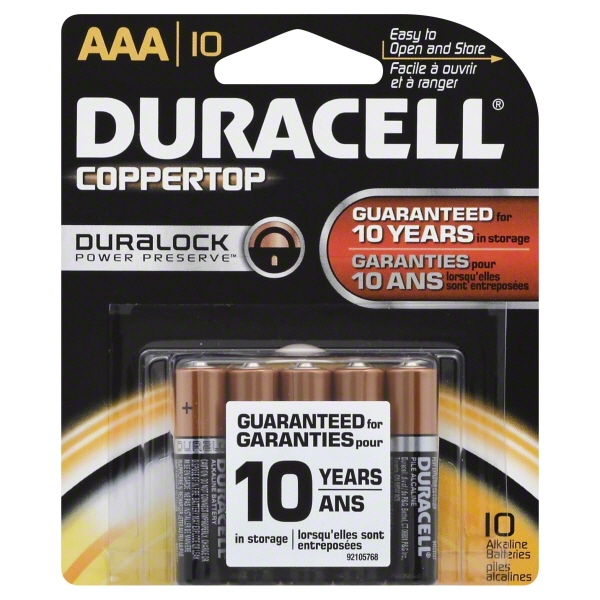 CopperTop MN1500B10Z Alkaline AAA Battery