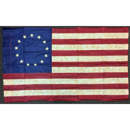 Vintage Look, 13 Star Colonial, Tea Stained American (Flags That Look Like The American Flag)