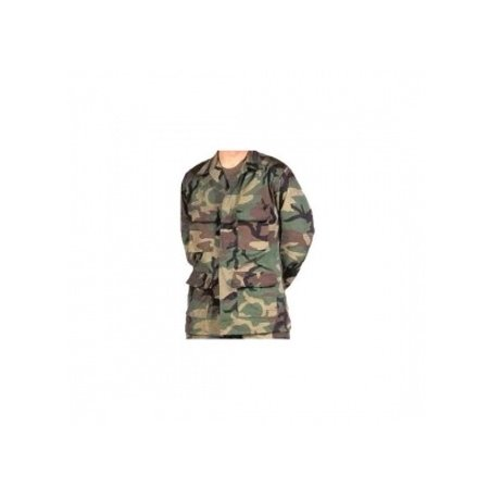 Military Surplus BDU Jacket IRR, WoODland Camo, Lge,
