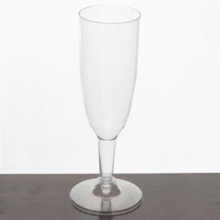 BalsaCircle Clear 12 pcs 6 oz. Disposable Plastic Tall Champagne Flutes - Wedding Reception Party Buffet Catering Tableware