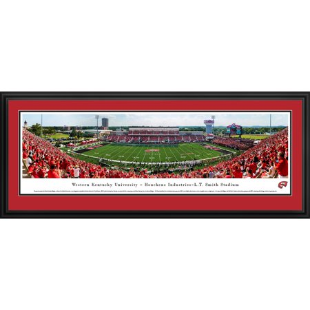Western Kentucky Football - 50 Yard Line - Blakeway Panoramas College Print with Standard Frame (Kentucky College Football)
