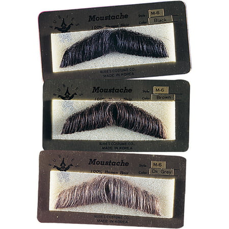 Human Hair Gentlemans Moustache Mustache Facial Hair Costume Accessory - Mustache Costume