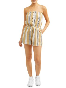 31b5b70208d Product Image Juniors  Stripe Button Front Romper