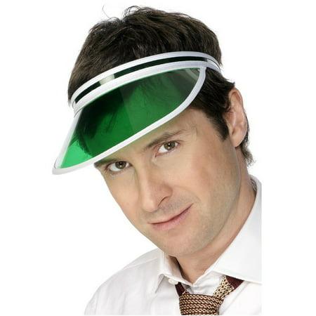 Green Tinted Classic Casino Poker Dealer Visor Hat Cap Costume - Costume Bald Cap