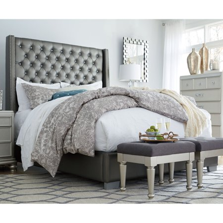 Signature Design by Ashley Coralayne Upholstered Low Profile Bed ()