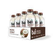 Bai Coconut Flavored Water, Molokai Coconut, Antioxidant Infused Drinks, 18 Fluid Ounce Bottles,