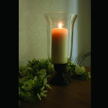 Image of Amber Home Goods ANC-813 Krystle Collection Traditional Hurricane Candle Holder