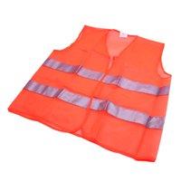 Orange Reflective Security Visibility Warning Vest Jacket for Car Motorcycle