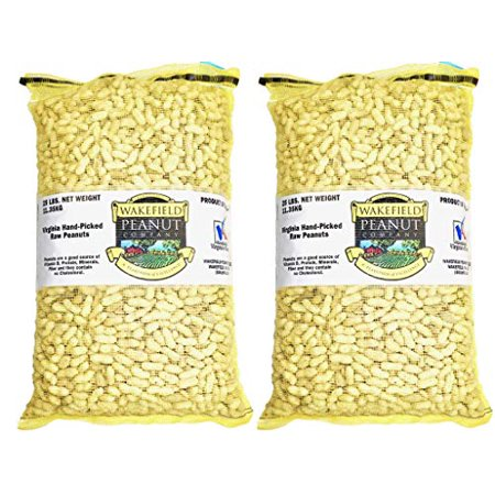 Virginia Peanuts Bulk Inshell Animal Peanuts for Squirrels, Birds, Deer, Pigs and a Wide Variety of Wildlife, 50 Lbs