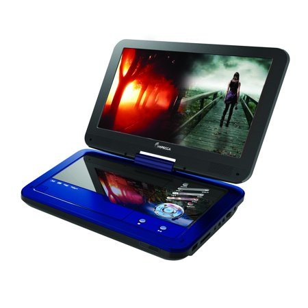 Impecca DVP1016B Portable Dvd Player With 10.1 Inch Swivel Screen – Burnished Cobalt [blue]
