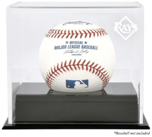 Tampa Bay Rays Baseball Cube Logo Display Case