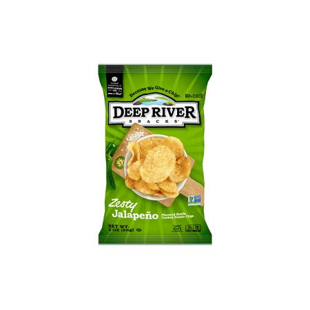 (Price/Case)Deep River Snacks 17116 Kettle Potato Chip Zesty Jalapeno 24-2 Ounce