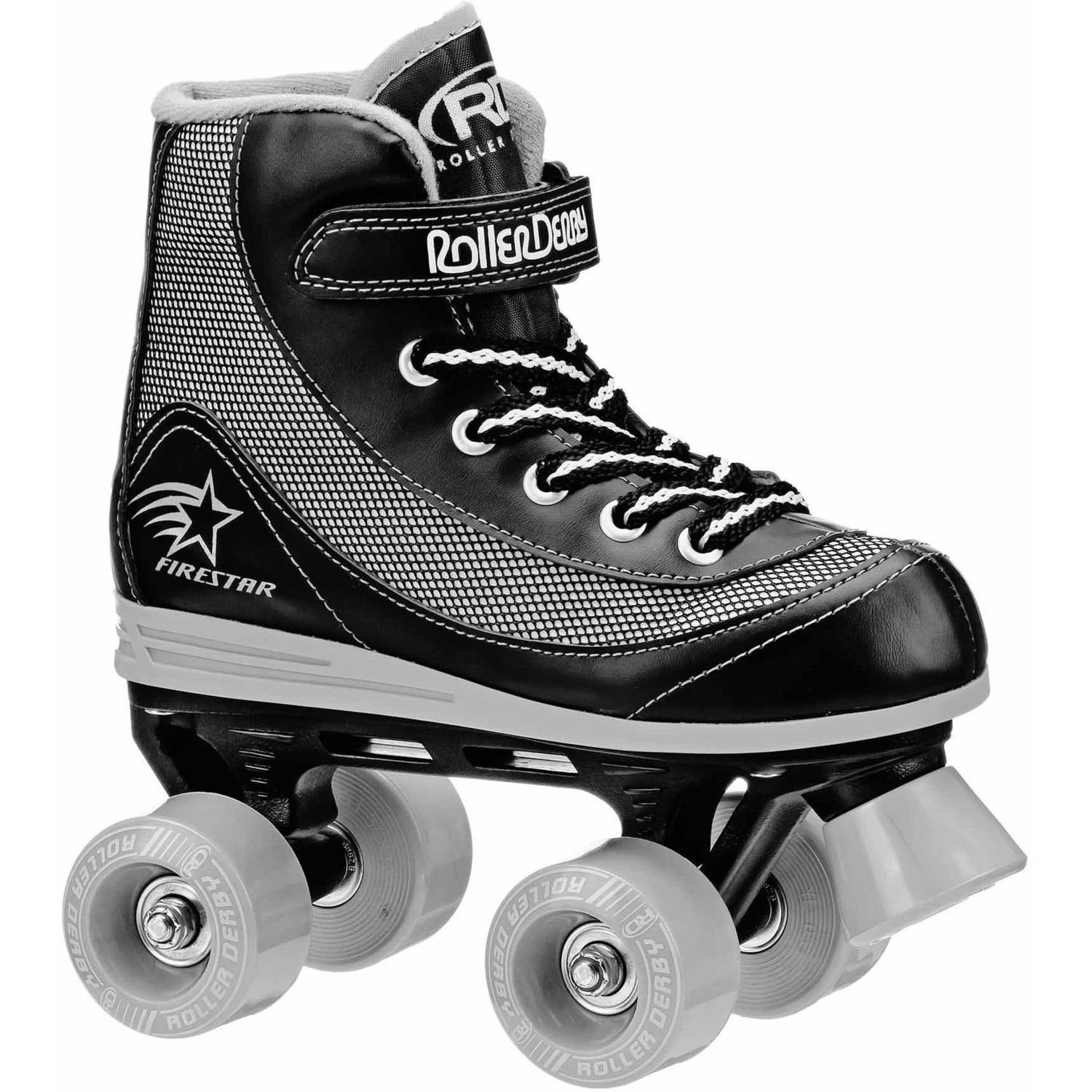 Roller Derby Boys' FireStar Quad Roller Skates, Black/Grey