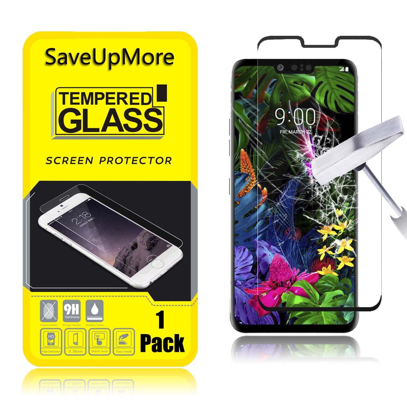 Glass Film GUOHUN Screen Protector Protective 25 PCS 9H 3D Full Screen Tempered Glass Film for LG G8 ThinQ Black