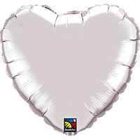 18'' Silver Heart Balloon