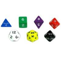 Koplow Games Jumbo Polyhedral Dice, 7 Per Set