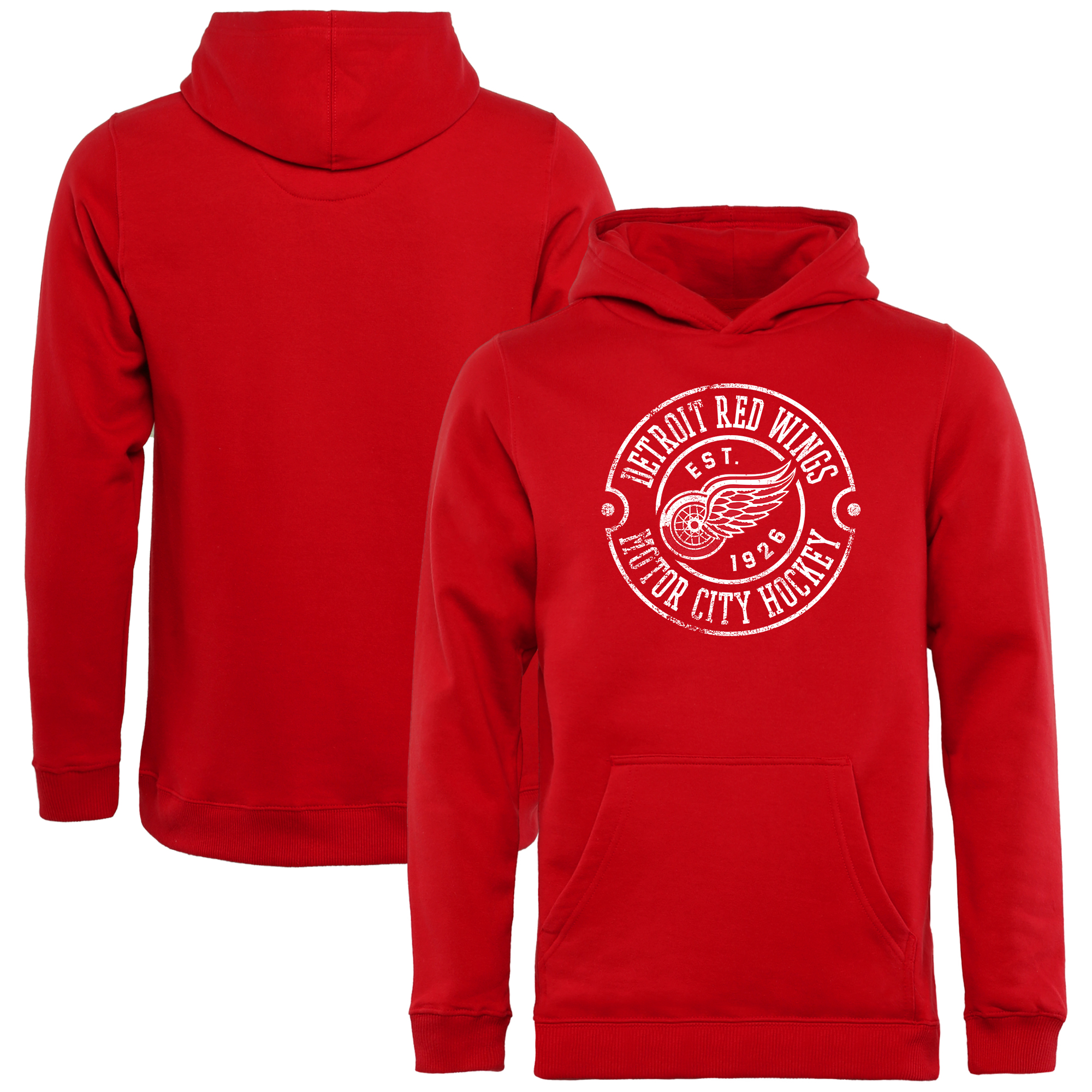 Detroit Red Wings Youth Hometown Collection Detroit Muscle Pullover Hoodie - Red