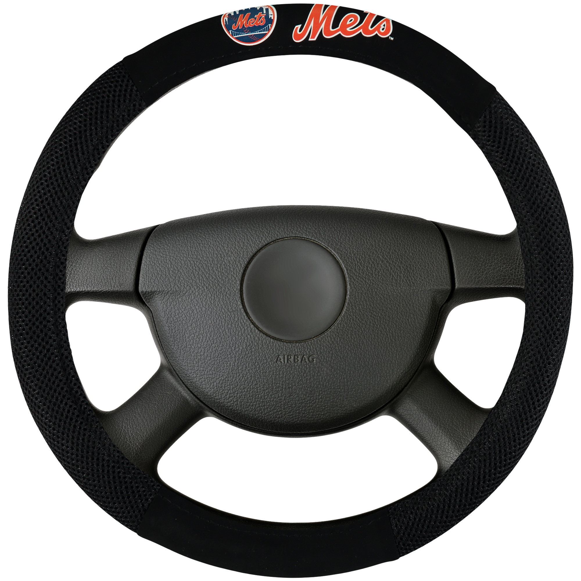 New York Mets Poly-Suede Steering Wheel Cover - No Size