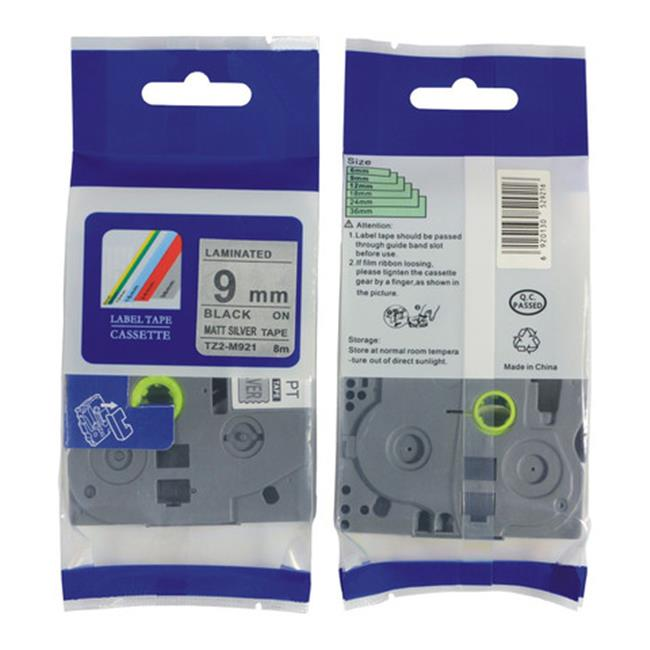 Nextpage TZE-M921 Compatible Brother Laminated Cassette Tape Label  Black On Silver - Pack Of 3