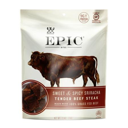 - Epic Jerky Bites, Sweet & Spicy Sriracha, Beef, Cranberry, 2.5 oz. (8 Count)