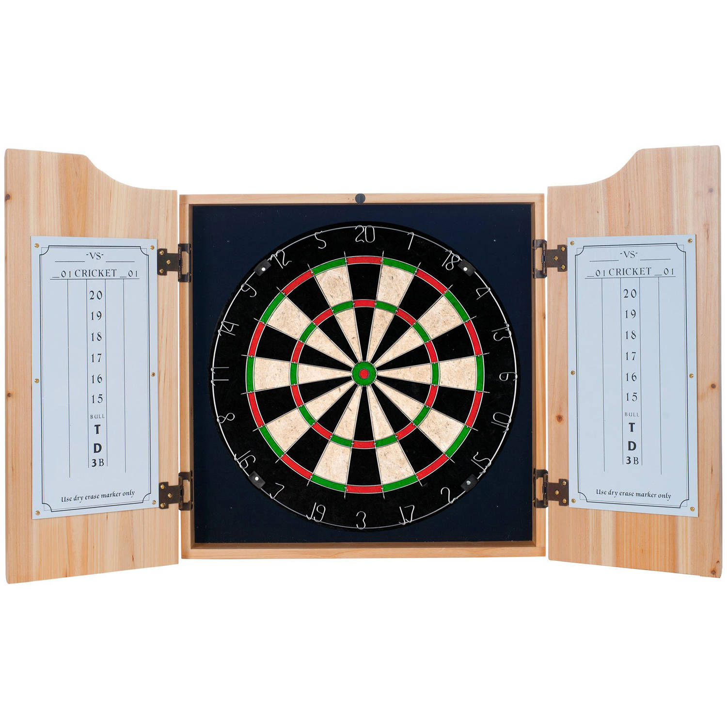 Premier League Swansea City Dart Cabinet includes Darts and Board by Trademark Global LLC
