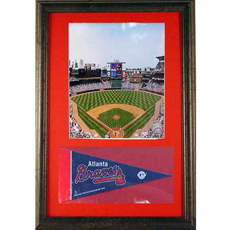 MLB Atlanta Braves Pennant Frame, 12x18 - Pennant Frames