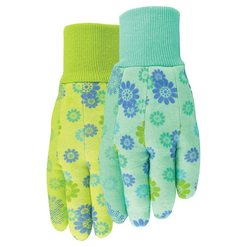 Midwest Gloves Print Cotton Jersey With Pvc Dots