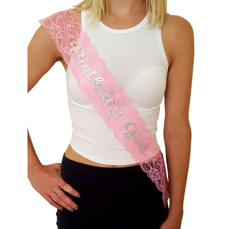 Birthday Girl Lace Sash: Great for Sweet 16, 18th, 21st, 30th, 40th Birthday Parties (Pink) - Themes For A Girl Birthday Party
