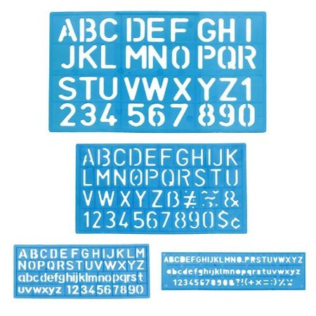 1 X Letter and Number Stencil Sets - Sizes 8, 10, 20, 30mm - Assorted Colors - Batman Stencil