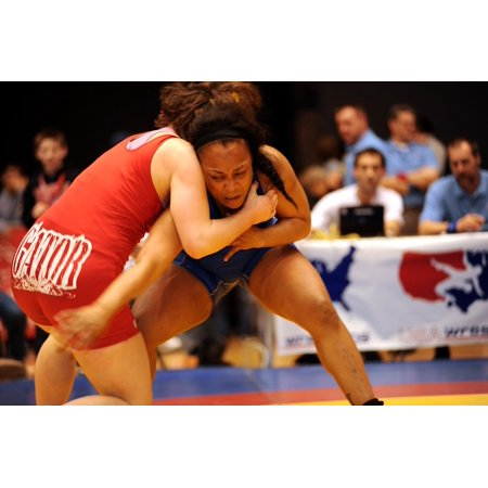 - LAMINATED POSTER Wrestling Competition Athletes Match Strength Poster Print 24 x 36