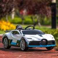 Uenjoy 12V Licensed Bugatti Divo Kids Ride On Car Electric Cars Motorized Vehicles for Kids, with Remote Control, Music, Horn, Spring Suspension, Safety Lock
