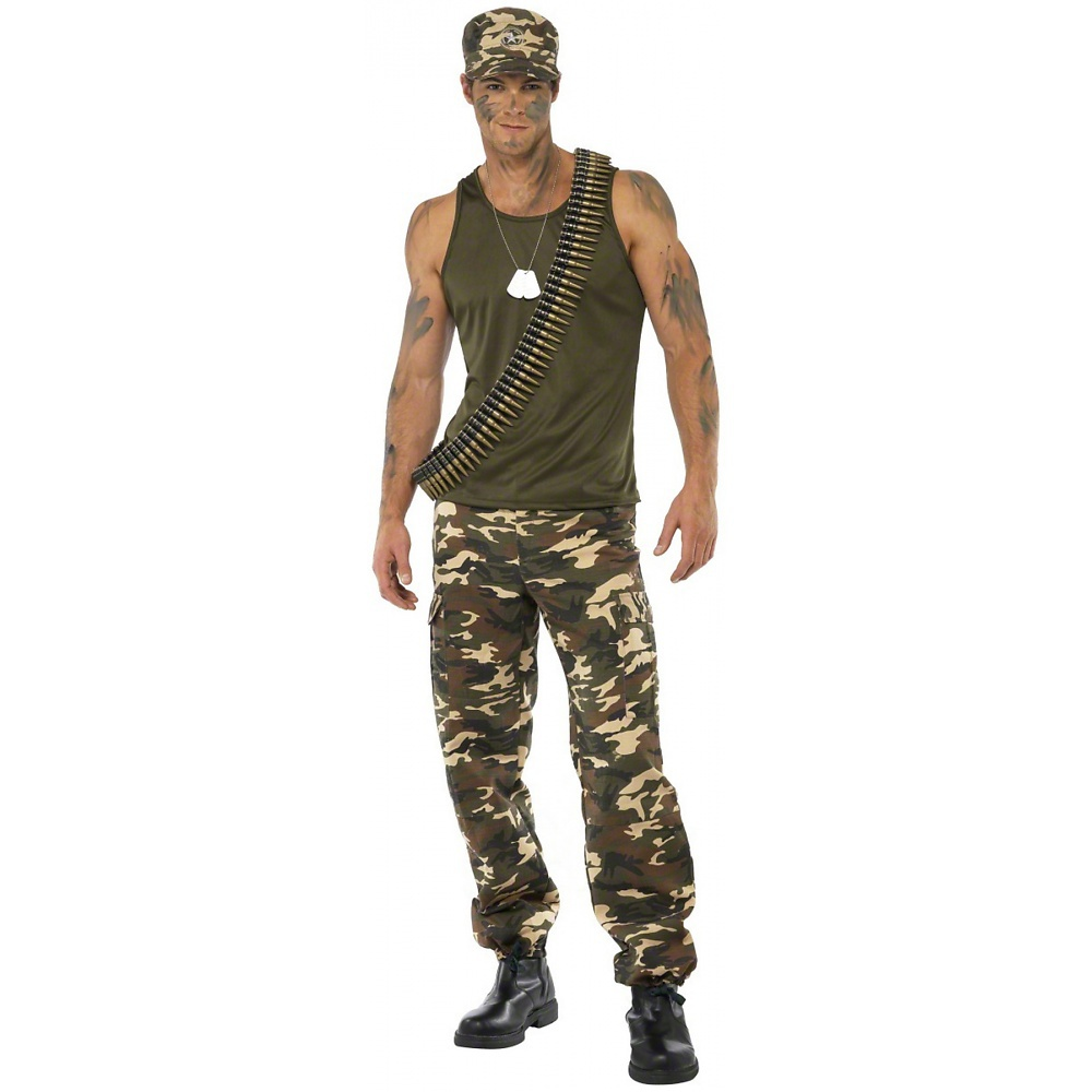 Khaki Camo Adult Costume - Large
