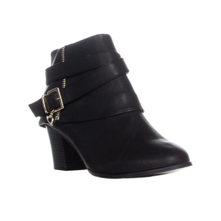 - Womens TS35 Tully Zip Up Block Heel Ankle Boots, Black