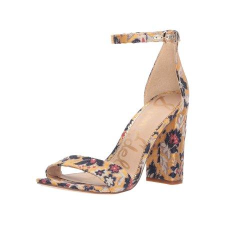 6f187181836 Sam Edelman Women's Yaro Heeled Sandal, Tuscan Yellow/Multi, Size 9.5