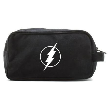 Flash Comic Superhero Canvas Dual Two Compartment Travel Toiletry Dopp Kit