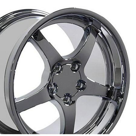 18x10.5 Wheel Fits Corvette, Camaro - C5 Style Chrome Rim - REAR ONLY