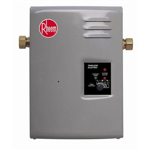 rheem rte-13 electric tankless water heater - 13 kw - walmart
