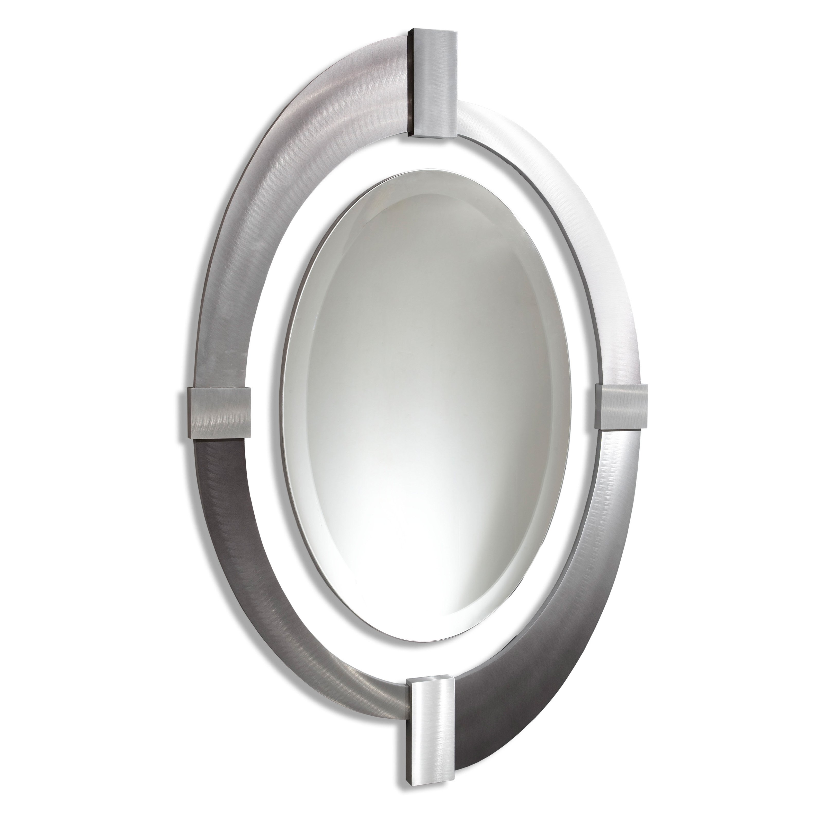 Intersections Oval Wall Mirror - 30W x 48H in.
