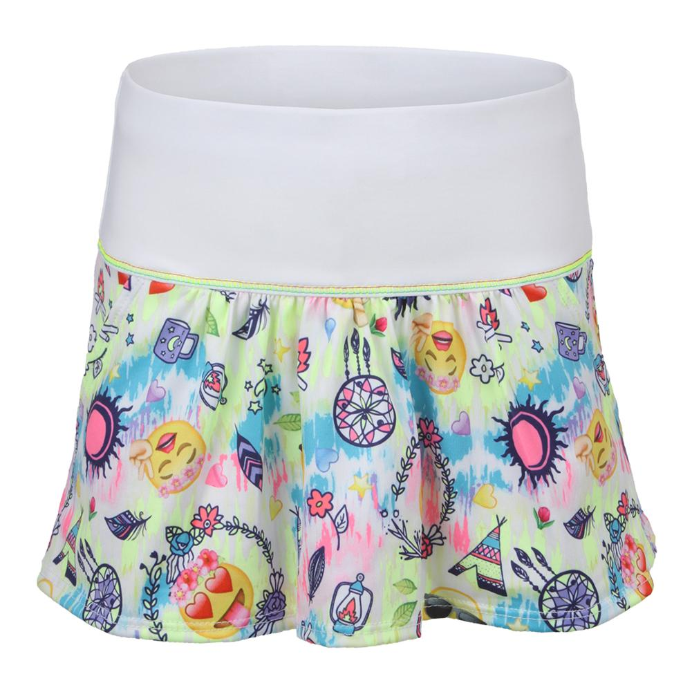 Girls` Tennis Skort Emoji Palooza