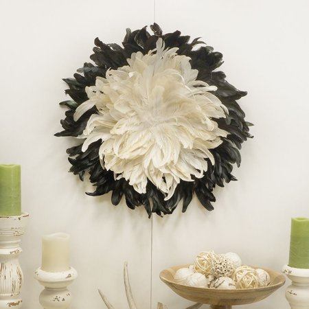 Zucker Feather Products Decorative Feather Wall Art - Beige/Black](Feather Wall Art)