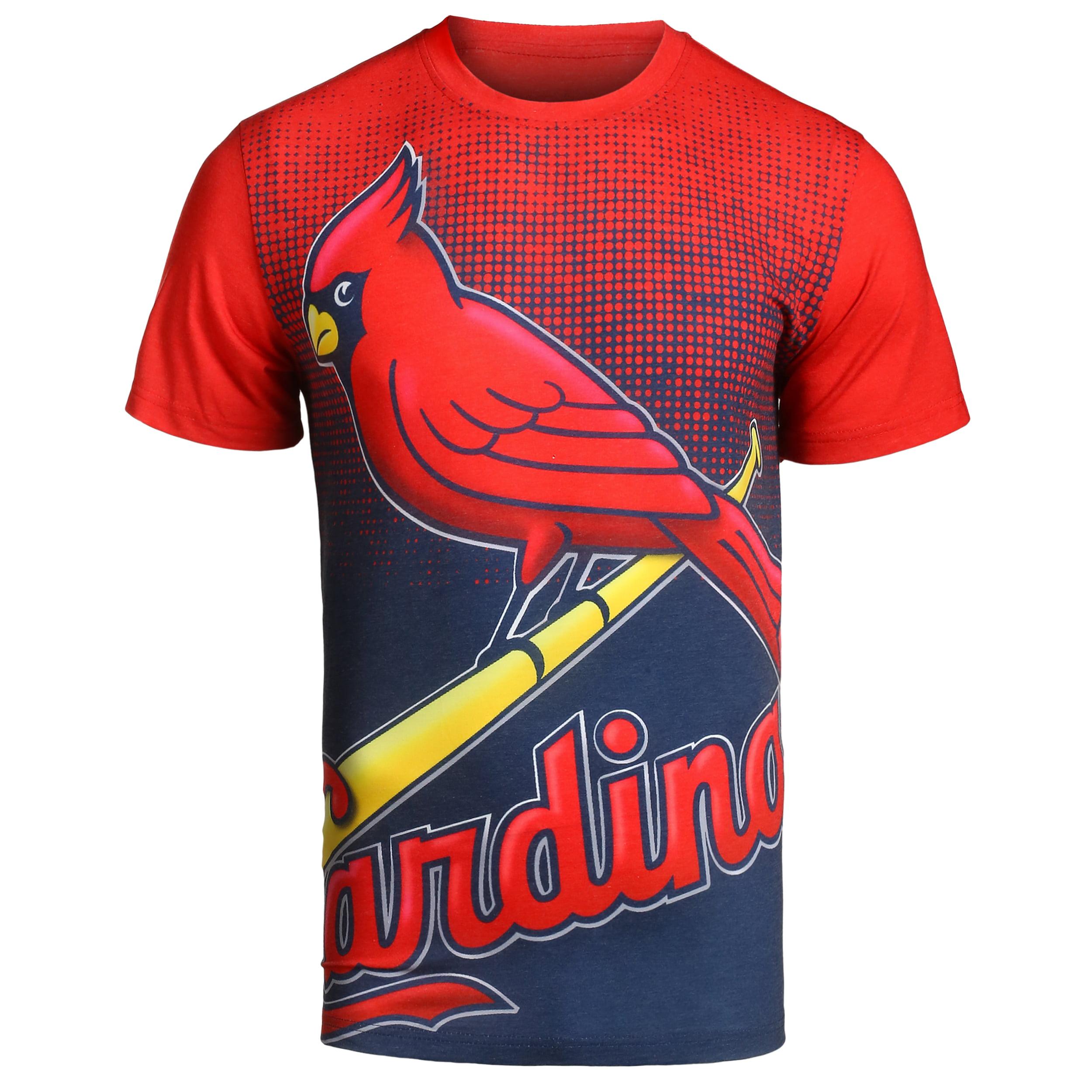 MLB Klew Big Logo T-Shirt Team Color St Louis Cardinals