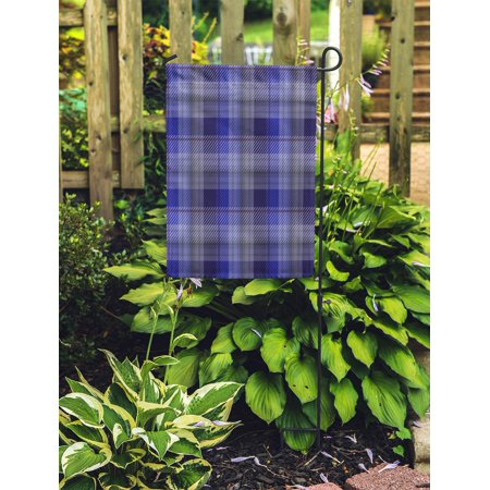 POGLIP American Blue Tartan Plaid in Pattern Swatches File British Camping Garden Flag Decorative Flag House Banner 12x18 inch - image 2 of 2