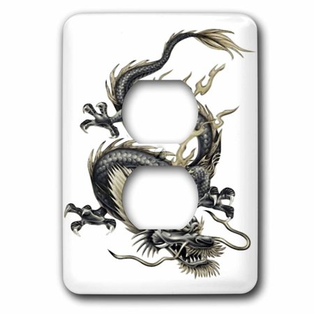 3dRose Lucky Dragon - dragon, chinese dragon, year of the dragon, chinese new year, gift idea, fathers day - 2 Plug Outlet Cover (lsp_63149_6)](Chinese New Year Home Decoration Ideas)