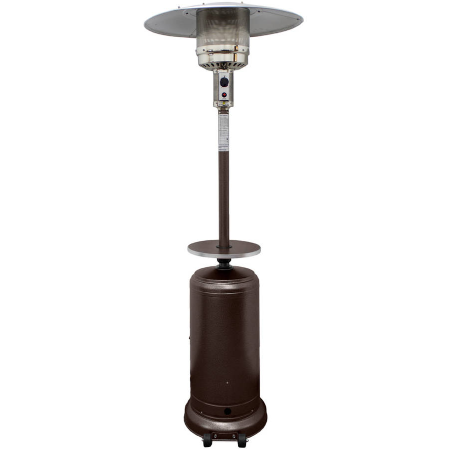 Hiland Tall Hammered Bronze Patio Heater with Table by AZ Patio Heaters