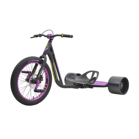 (Triad Drift Trike - Syndicate 3- Adult Sized Tricycle w/ Anodized 50mm wheel, Black/Purple)